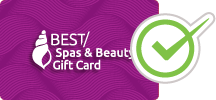 The Best Spas & Beauty Gift Card is accepted at this Spa